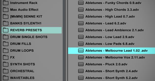 Reverb: 60 presets (bem atuais) de reverb para o Ableton Live