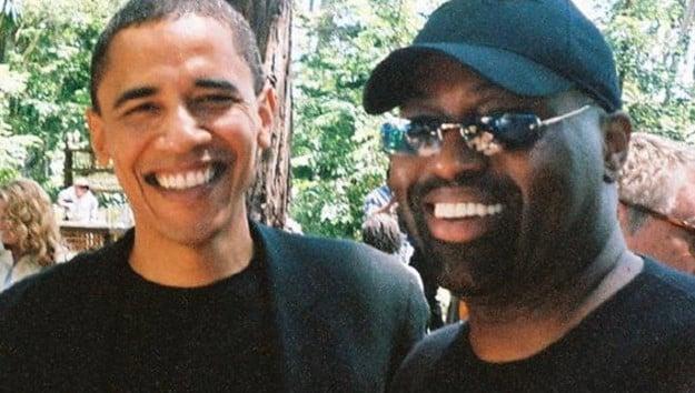 Barack Obama e Frankie Knuckles, considerado o pai da house music